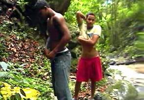 Rony and Carlos – Latino boys 18yo fucking in the bush