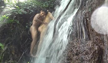 Amateur Gay Video – Real Incest at the Waterfall