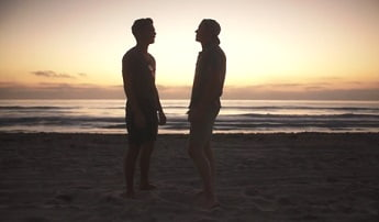 Josh and Brady hot latinos twinks bareback on a public beach