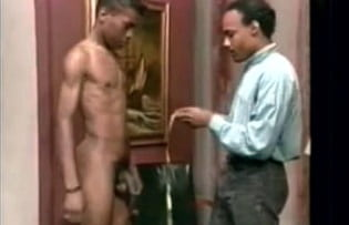 Cute black boy, first gay porn test