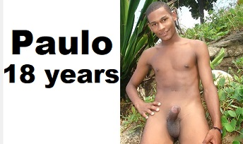 Paulo, straight latino boy, naked at beach