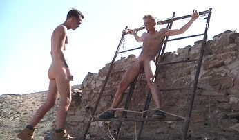 Gay porn – hot twink has a toy to play
