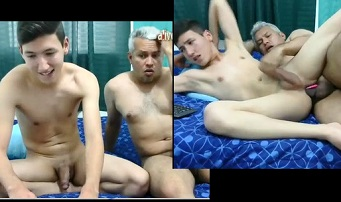 Gay incest old daddy fucks cute son on chaturbate