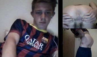Chaturbate – Barcelona supporter showing his open ass